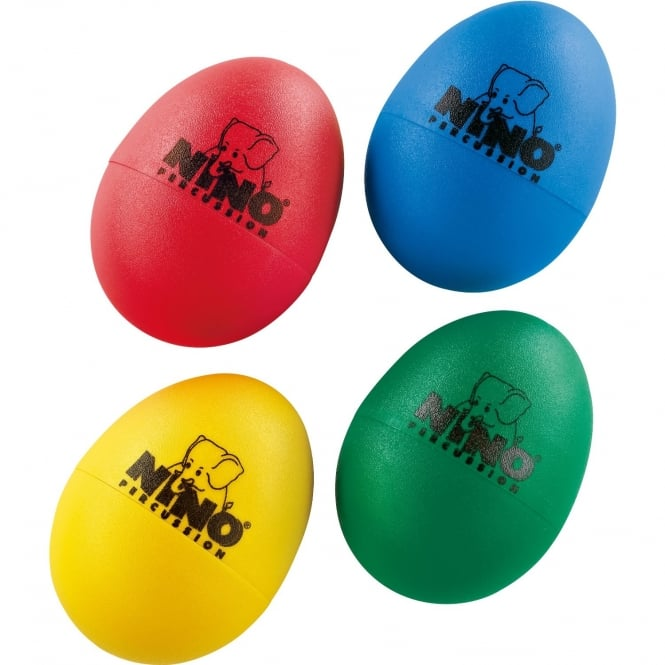 Nino Percussion Egg Shaker Assortment - Red, Green, Yellow, Blue (x4)