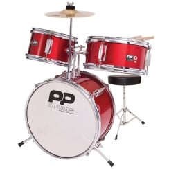 P PERCUSSION PP150RD 3PC FIRST DRUM KIT- RED