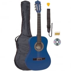 PALMA 3/4 SIZE GUITAR OUTFIT - BLUE