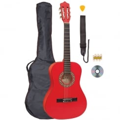 PALMA 3/4 SIZE GUITAR OUTFIT - RED