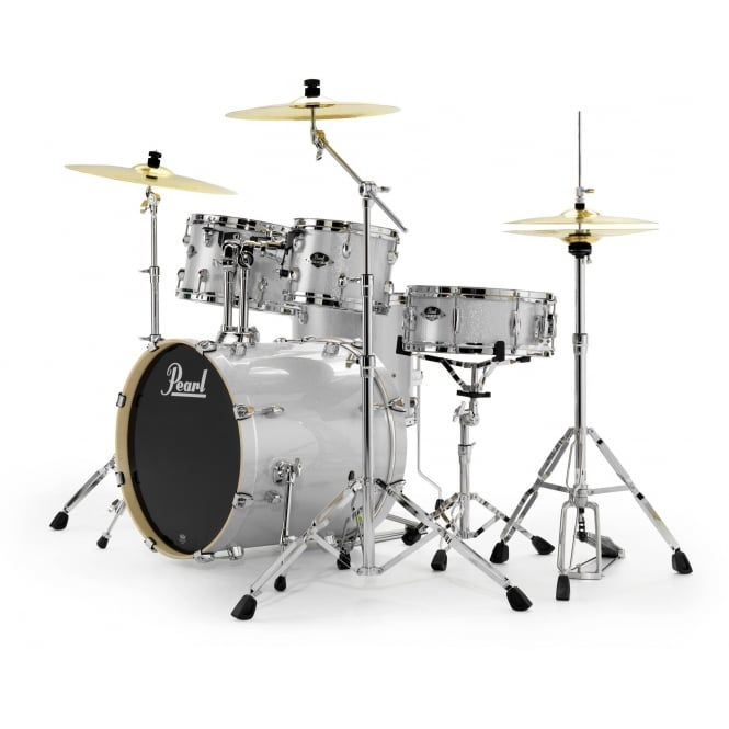 Pearl Export 5 Pc Rock Drum Kit | Arctic Sparkle