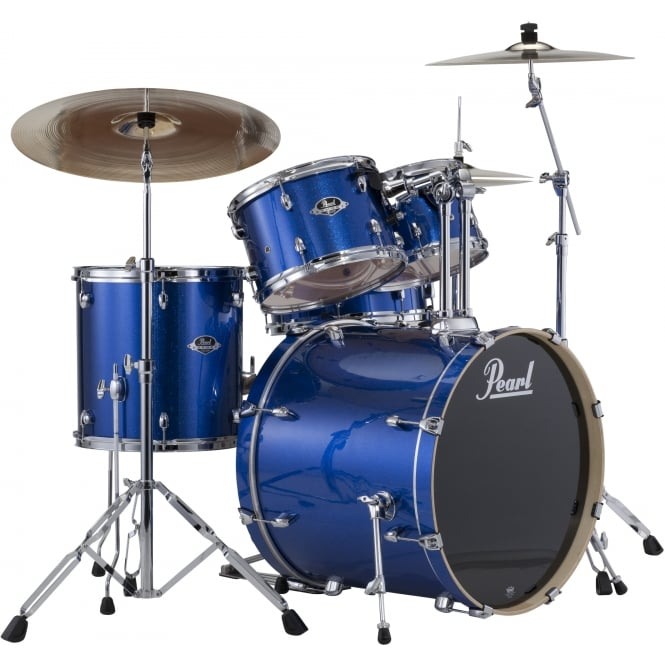 Pearl Export 5 Pc Rock Drum Kit | Electric Blue Sparkle