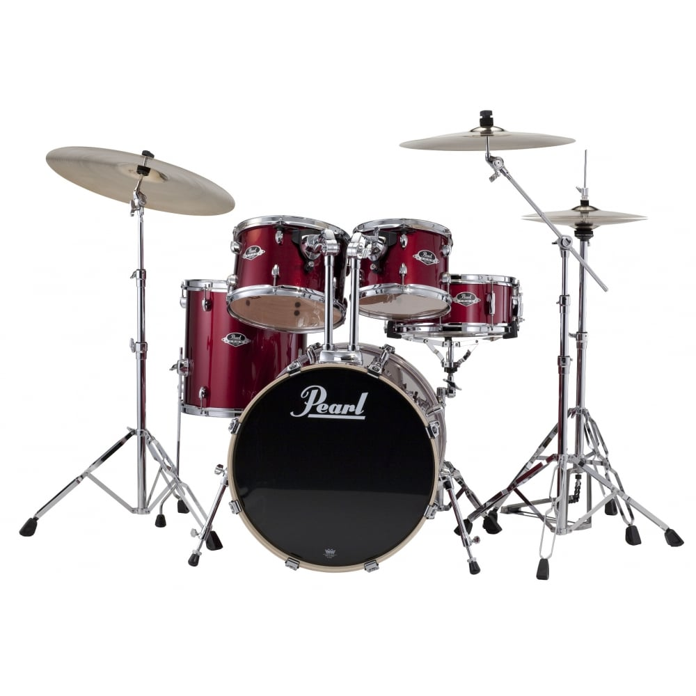 Pearl Export 5 Pc Rock Drum Kit Red Wine