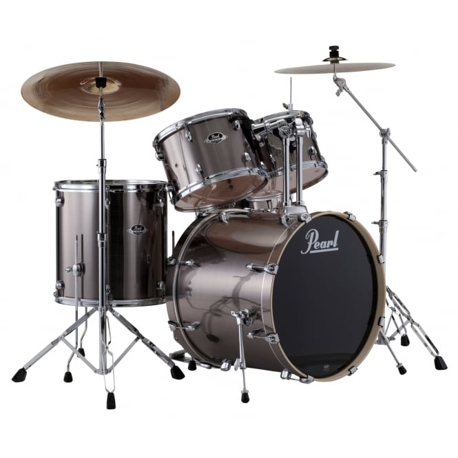 Pearl Export 5 Pc Rock Drum Kit | Smokey Chrome