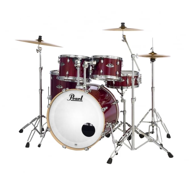Pearl Export Lacquer 5 Pc American Fusion Drum Kit | Natural Cherry