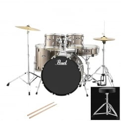 Pearl Roadshow American Fusion Complete 5 Pc Drum Kit | Bronze Metallic