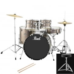 Pearl Roadshow Fusion Complete 5 Pc Drum Kit | Bronze Metallic