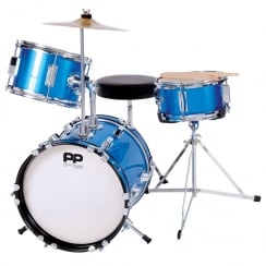 P Percussion Performance Percussion PP100BL 3PC JUNIOR DRUM KIT- BLUE