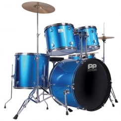 P Percussion Performance Percussion PP250BL 5PC DRUM KIT- BLUE