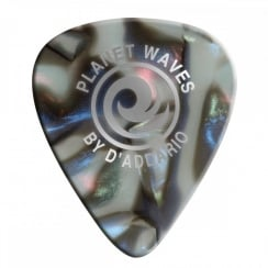 Planet Waves Abalone Celluloid Guitar Picks 10 pack, Extra Heavy