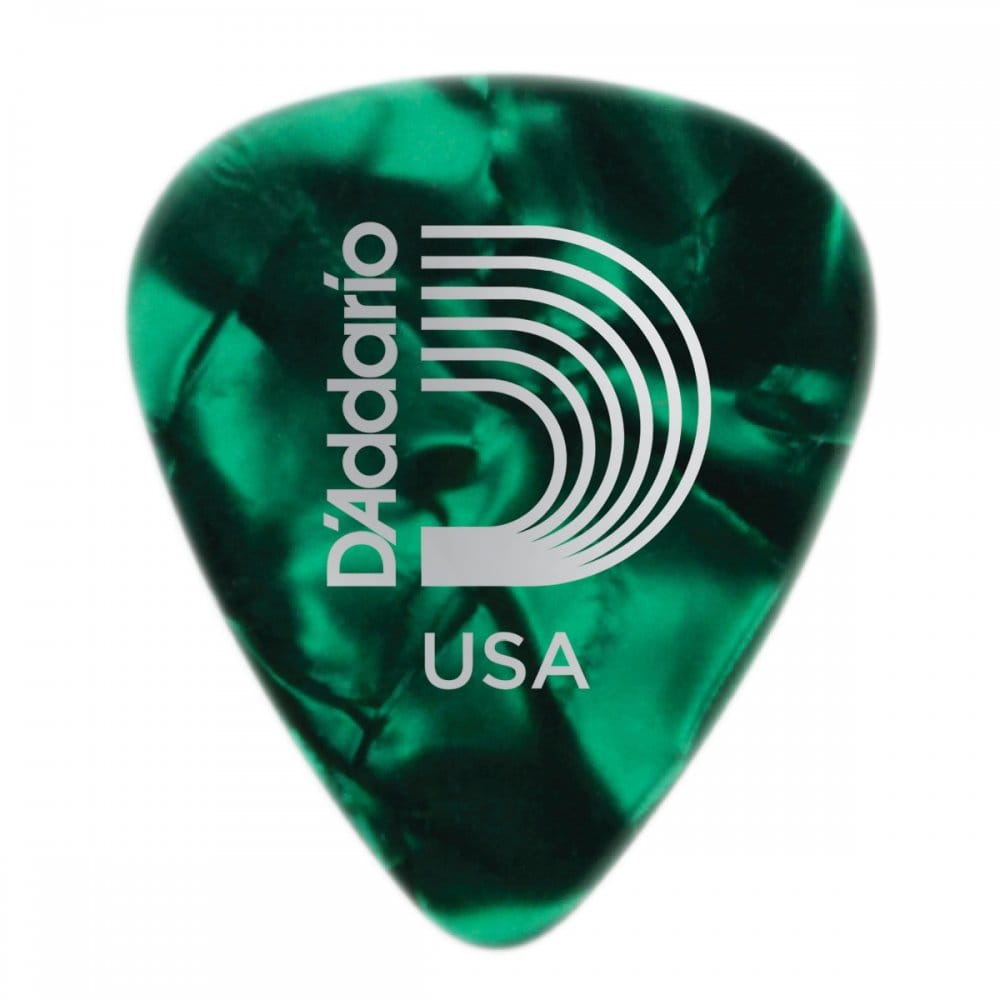 planet waves green pearl celluloid guitar picks 25 pack extra heavy. Black Bedroom Furniture Sets. Home Design Ideas