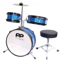 Performance Percussion PP Drums Junior 3 Piece Drum Kit - Metallic Blue