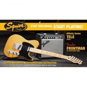 Squier  SDSP Affinity Tele Elec Guitar Pack With 15G Amp | BTB