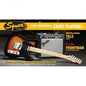 Squier  SDSP Affinity Tele Elec Guitar Pack With 15G Amp | BSB