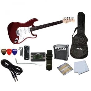 Spur  STC Beginner Electric Guitar Pack | Candy Apple Red