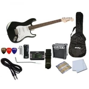 Spur  STC Beginner Electric Guitar Pack | Black