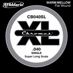 D'Addario PSB125TSL ProSteels Bass Guitar Single Super Long Scale .0125 Tapered