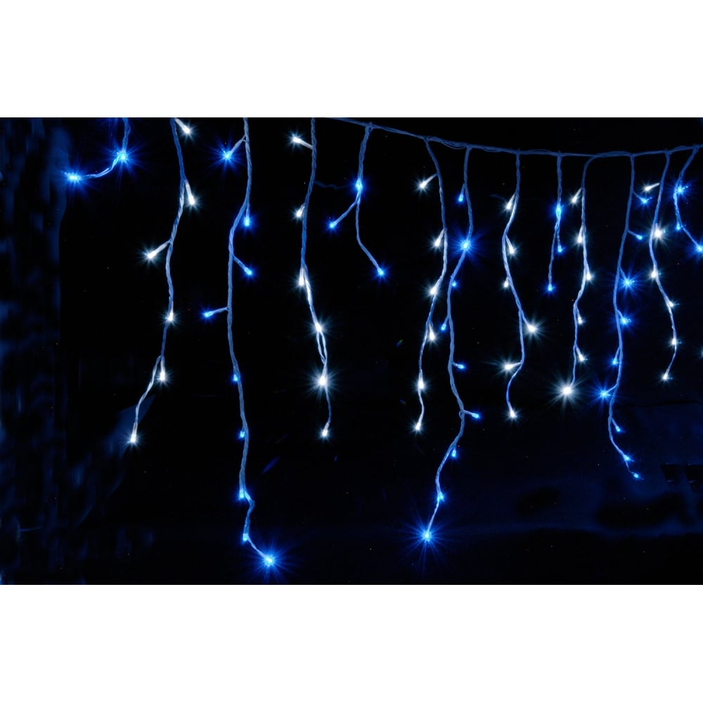 240 LEDs string icicle light - Blue & White from Rimmers Music