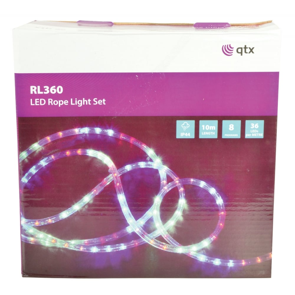 (UK version) LED Rope light set - 10m Blue from Rimmers Music