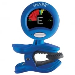 QWIK TUNE/TIME QTSN1 SNARK CLIP ON CHROMATIC GUITAR TUNER - METALLIC BLUE