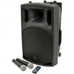 QTX QX12PA portable PA unit with USB/SD/FM player & Bluetooth