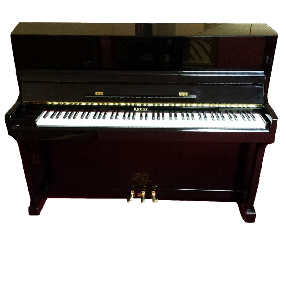 secondhand richter 115 acoustic upright piano. Black Bedroom Furniture Sets. Home Design Ideas