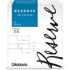 Rico D'Addario Reserve Bb Clarinet Reeds, Strength 3.0, 10-pack