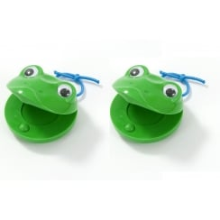 Rimmers Education G10-4 Green Frog Castanets Pair