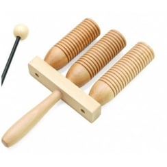 Rimmers Education G5-3 Triple Wooden Agogo