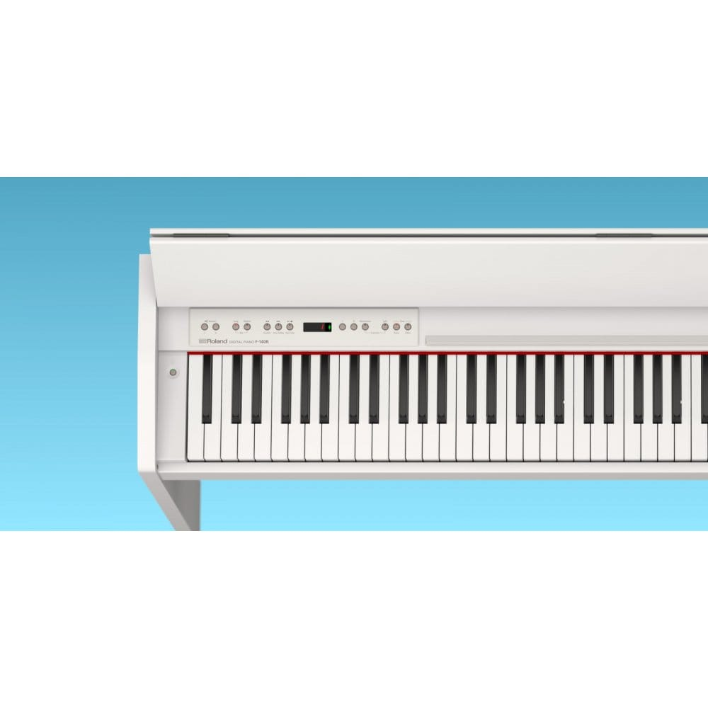 roland f 140 r digital piano in white from rimmers music. Black Bedroom Furniture Sets. Home Design Ideas