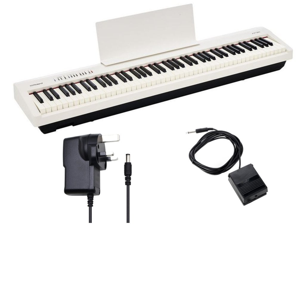 Roland FP 30 WH Digital Piano in White KSC 70 WH Stand KPD 70 WH Pedal Unit  Bundle