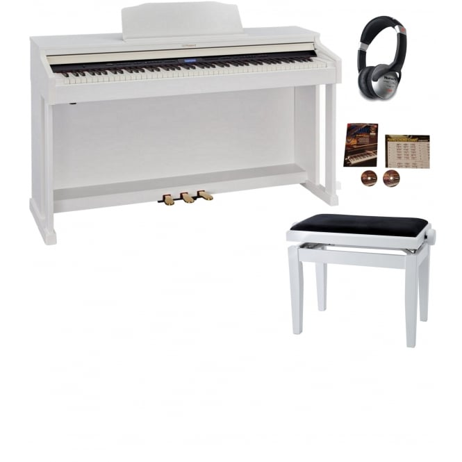 Roland HP601 Digital Piano Contemporary White Package