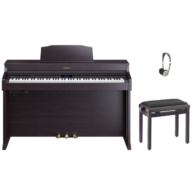 Roland HP603 Digital Piano | Contemporary Rosewood Bundle