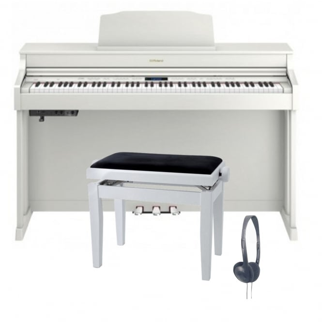 Roland HP603 Digital Piano | White Bundle