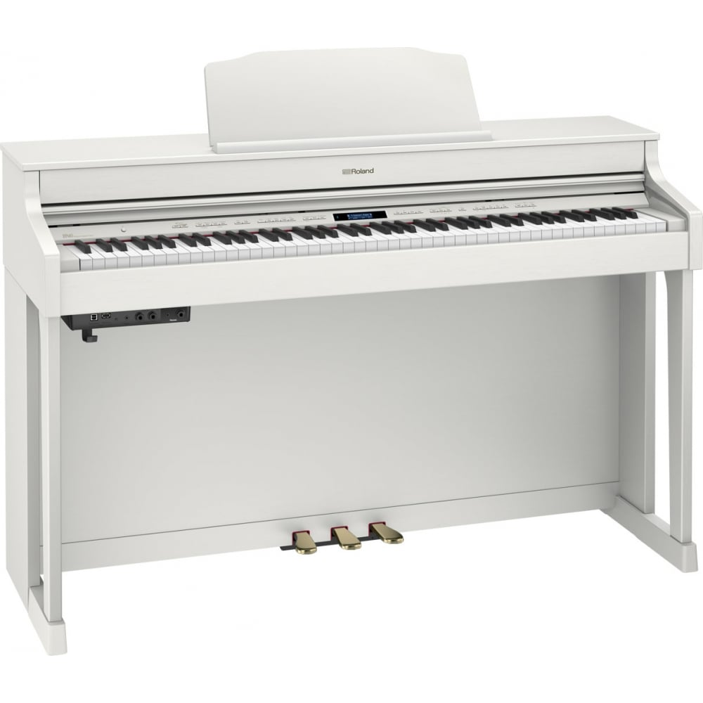 roland hp603 digital piano white with uk mainland delivery. Black Bedroom Furniture Sets. Home Design Ideas