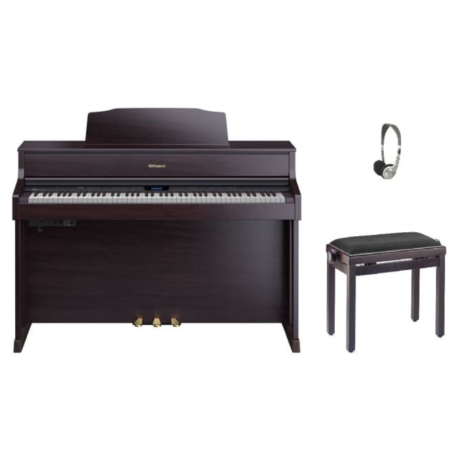 Roland HP605 Digital Piano | Contemporary Rosewood Bundle
