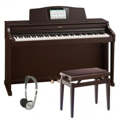 Roland HPi50e Digital Piano Bundle in Rosewood