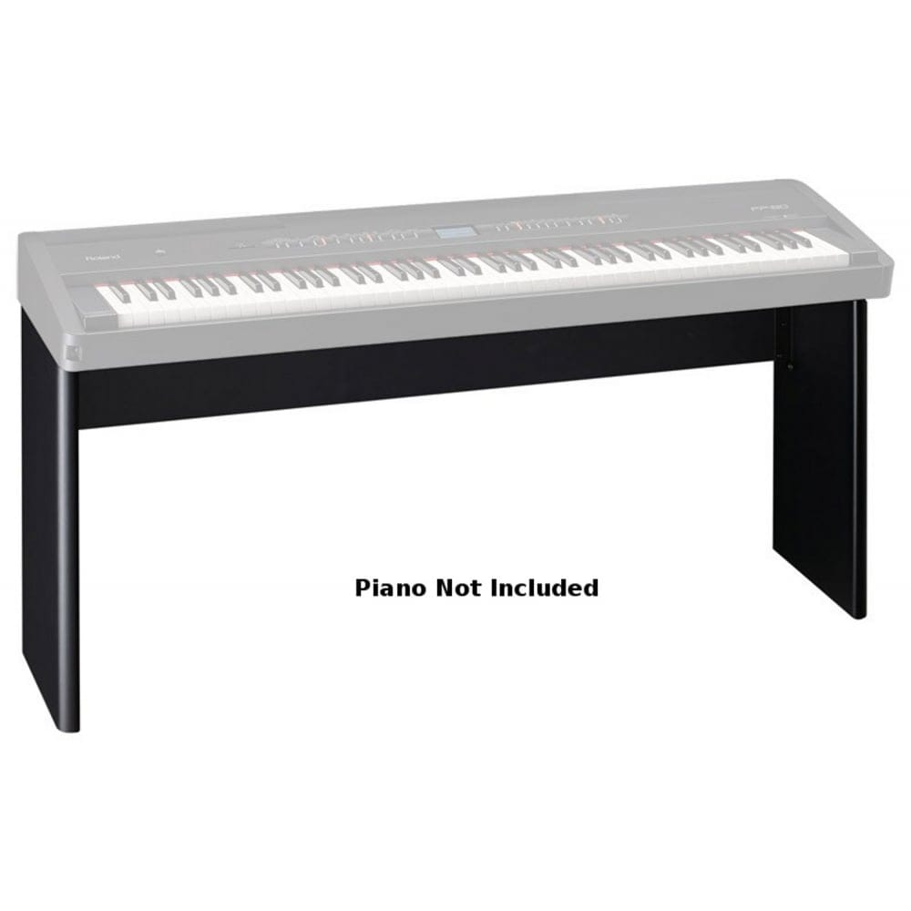 roland ksc76bk black piano stand from rimmers music. Black Bedroom Furniture Sets. Home Design Ideas