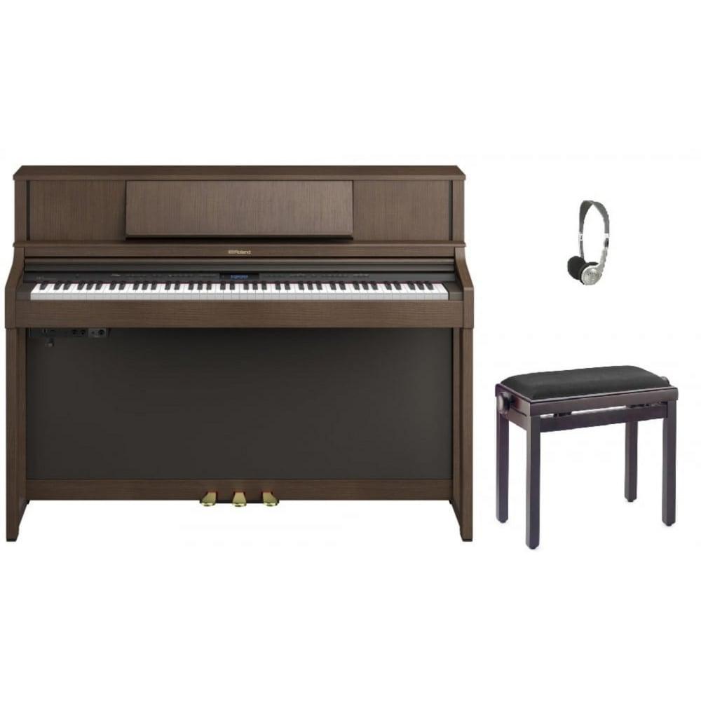 roland lx7 digital piano brown walnut bundle. Black Bedroom Furniture Sets. Home Design Ideas