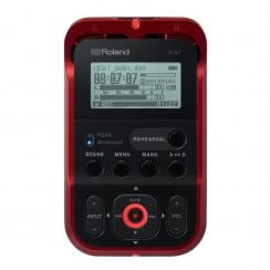 Roland R-07 High Resolution Audio Recorder Red