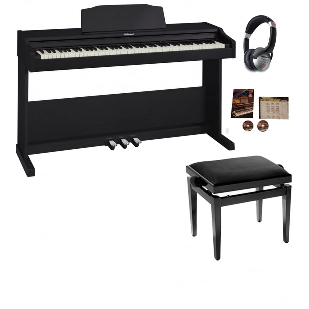 Roland RP102 Digital Piano Contemporary Black Package