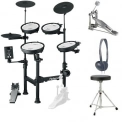 Roland TD-1KPX Portable V-Drums Electronic Drum Kit | Bundle