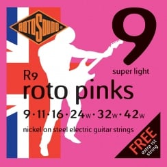 Rotosound R9 Roto Pink Super Light 9-42 Strings