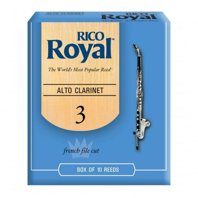 Royal Alto Clarinet Reeds, Strength 3.0, 10-pack