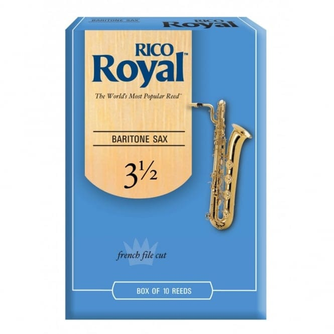 Royal Baritone Sax Reeds, Strength 3.5, 10-pack