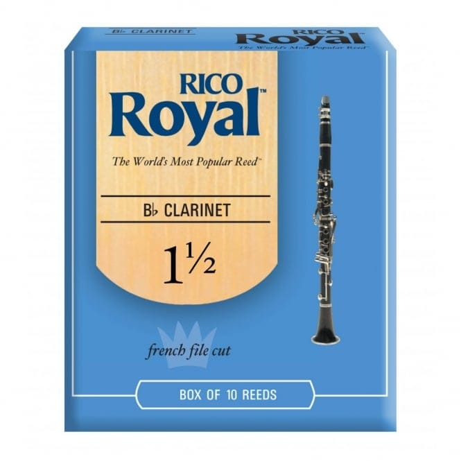 Royal Bb Clarinet Reeds, Strength 1.5, 10-pack