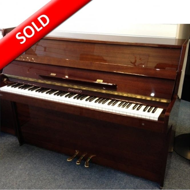 secondhand daewoo upright acoustic piano from rimmers music. Black Bedroom Furniture Sets. Home Design Ideas