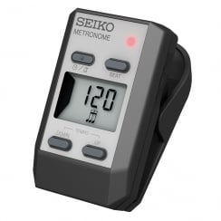 SEIKO DM51SE CLIP-ON DIGITAL METRONOME WITH CLOCK- SILVER