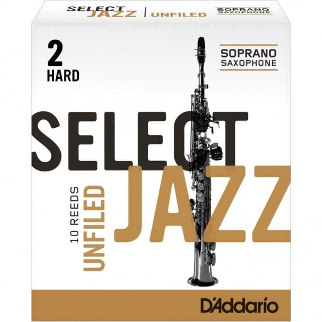Select Jazz Soprano Sax Reeds Unfiled Strength 2 Strength Hard 10-pack