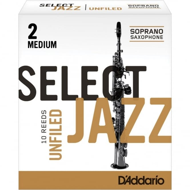 Select Jazz Soprano Sax Reeds Unfiled Strength 2 Strength Medium 10Pk
